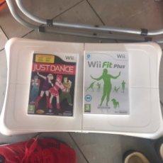 Videojuegos y Consolas: TABLA BALANCE BOARD EQUILIBRIO WII FIT + 2 JUEGOS. Lote 205867887