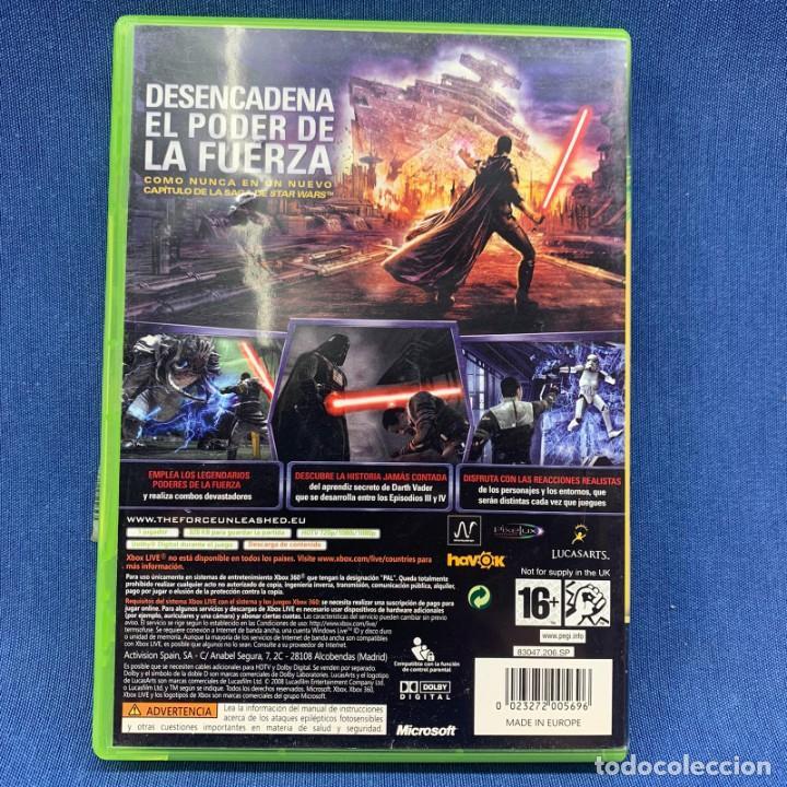 Videojuegos y Consolas: VIDEOJUEGO - MICROSOFT XBOX 360 - STAR WARS EL PODER DE LA FUERZA + INSTRUCCIONES - Foto 3 - 209184495