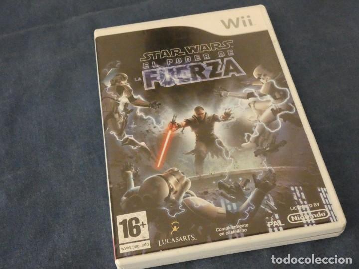 JUEGO WII COMPLETO DISCO BASTANTE USO PERO ACEPTABLE STAR WARS EL PODER DE LA FUERZA (Juguetes - Videojuegos y Consolas - Nintendo - Wii)