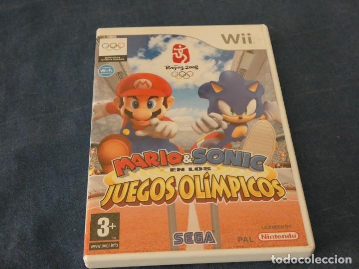 JUEGO WII COMPLETO DISCO BASTANTE USO PERO ACEPTABLE MARIO SONIC JUEGOS OLIMPICOS (Juguetes - Videojuegos y Consolas - Nintendo - Wii)