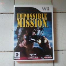 Videojuegos y Consolas: IMPOSSIBLE MISSION SYSTEM 3 VIDEOJUEGO EN INGLÉS WII NINTENDO PAL. Lote 210718486