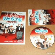 Videojuegos y Consolas: WE SING: ROCK PARA NINTENDO WII, PAL. Lote 210978867