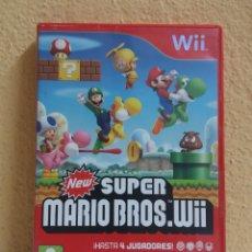 Videojuegos y Consolas: WII SUPER MARIO BROS, CAJA CON INSTRUCCIONES, SIN JUEGO. Lote 214987346