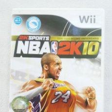 Videojuegos y Consolas: JUEGO NINTENDO WII NBA 2K10 SPORTS. Lote 215072173