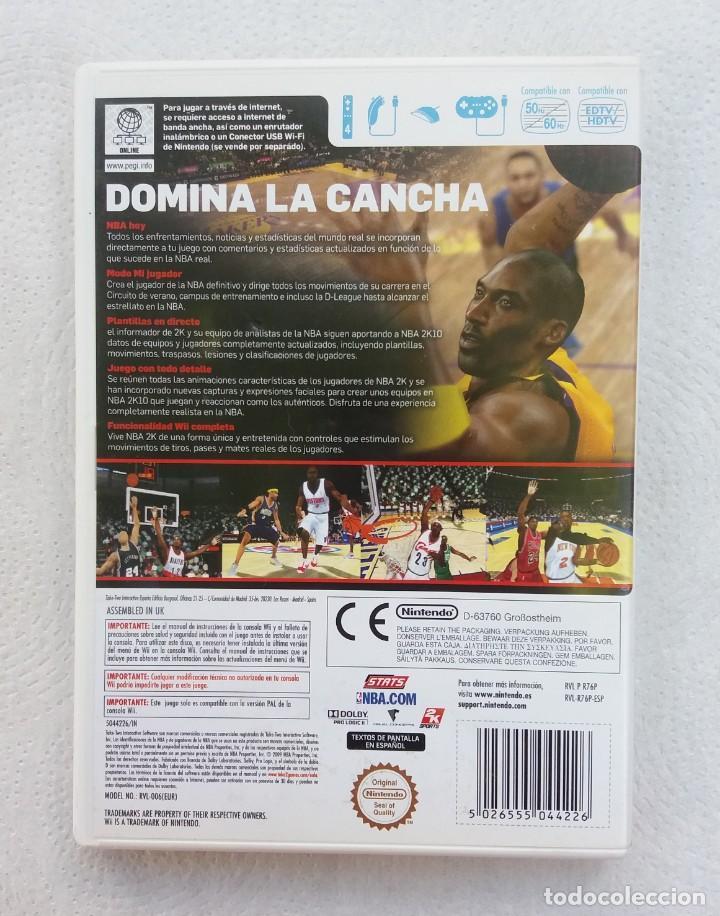 Videojuegos y Consolas: JUEGO NINTENDO Wii NBA 2K10 SPORTS - Foto 3 - 215072173