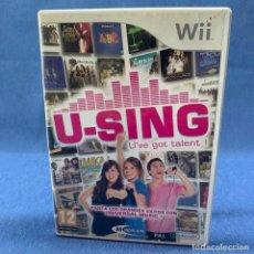 Videojuegos y Consolas: VIDEOJUEGO - NINTENDO WII - U-SING + CAJA + INSTRUCCIONES. Lote 218028376
