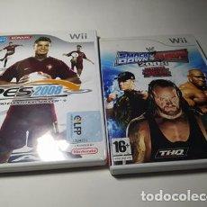 Videojuegos y Consolas: SMACKDOWN + PES 2008 ( NINTENDO WII - WII U - PAL - ESP). Lote 221603331