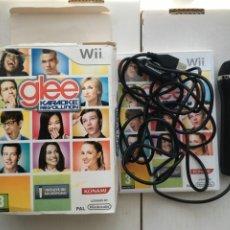 Videojuegos y Consolas: GLEE KARAOKE REVOLUTION JUEGO NINTENDO WII Y MICROFONO USB KREATEN. Lote 222413903