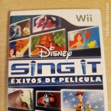 Videojuegos y Consolas: DISNEY SING IT EXITOS DE PELICULA PARA WII. 2010. Lote 222570600