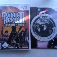 Videojuegos y Consolas: GUITAR HERO III LEGENDS OF ROCK 3 LEGEND ROCKS GUITARHERO NINTENDO WII KREATEN. Lote 222594915