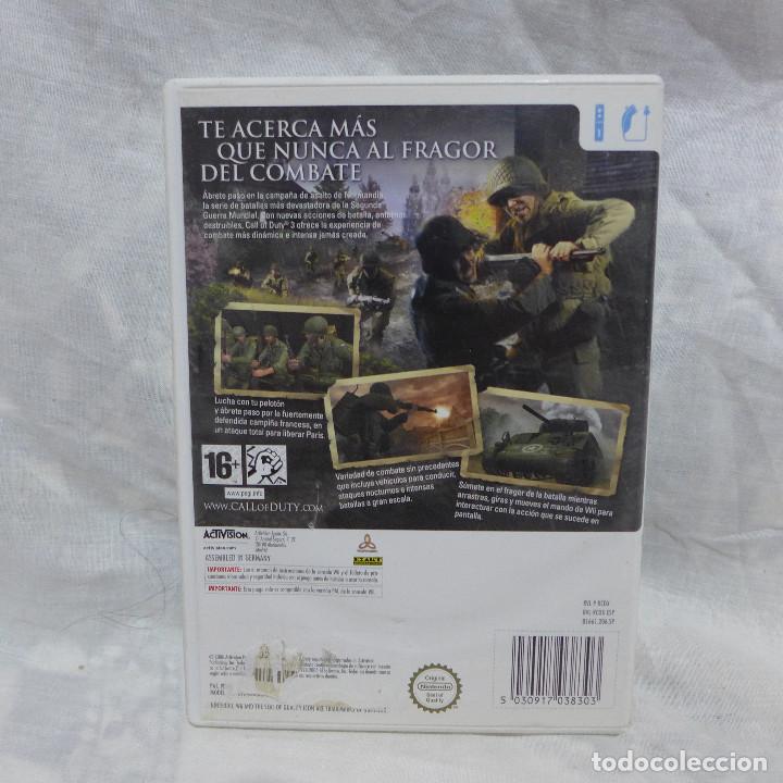 Videojuegos y Consolas: JUEGO PARA NINTENDO WII - CALL OF DUTY 3 - Foto 2 - 224686140