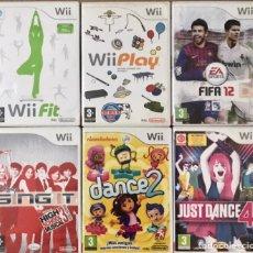 Videojuegos y Consolas: LOTE DE 6 VIDEOJUEGOS PARA WII - JUST DANCE 2 4 NICKELODEON - 2K PLAY SING IT FIT FIFA 12 NINTENDO. Lote 176304640