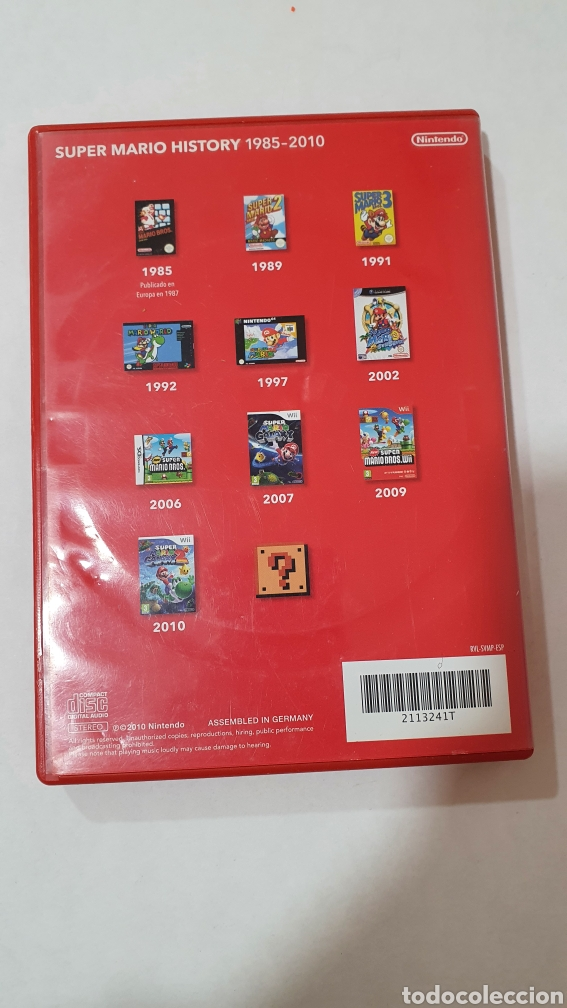 Videojuegos y Consolas: SUPER MARIO HISTORY 1985-2010 -WII NINTENDO 25 ANIVERSARIO SUPER MARIO BROS -SOUNDTRACK CD- CD AUDIO - Foto 2 - 229082360