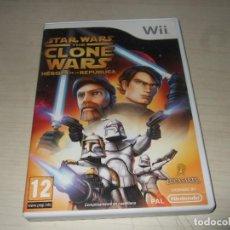Videojuegos y Consolas: JUEGO NINTENDO WII STAR WARS THE CLONE WARS. Lote 235606475