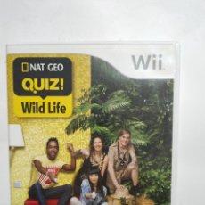 Videojuegos y Consolas: WIIREF.39 NAT GEO QUIZ WILD LIFE JUEGO NINTENDO WII SEGUNDAMANO. Lote 236151330