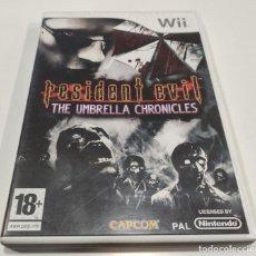 Jeux Vidéo et Consoles: JUEGO DE CONSOLA NINTENDO WII , RESIDENT EVIL THE UMBRELLA CHRONICLES - FUNCIONA. Lote 236364385