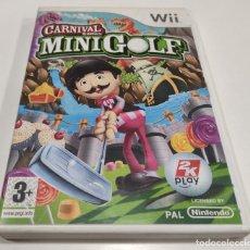 Videojuegos y Consolas: JUEGO DE CONSOLA NINTENDO WII , CARNIVAL GAMES MINIGOLF FUNCIONA. Lote 236366385