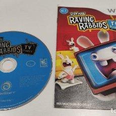 Videojuegos y Consolas: JUEGO CONSOLA NINTENDO WII , RAYMAN RAVING RABBIDS TV PARTY , VERSION USA SIN CAJA. Lote 236368515