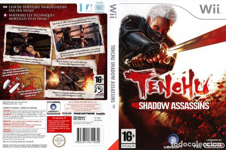 LOTE JUEGO CONSOLA NINTENDO WII - TENCHU SHADOW ASSASSINS - MUY NUEVO Y CON SU MANUAL (Juguetes - Videojuegos y Consolas - Nintendo - Wii)