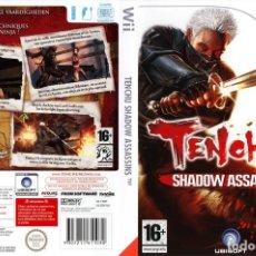 Videojuegos y Consolas: LOTE JUEGO CONSOLA NINTENDO WII - TENCHU SHADOW ASSASSINS - MUY NUEVO Y CON SU MANUAL. Lote 238417895