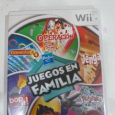 Videojuegos y Consolas: JUEGO PARA WII JUEGOS EN FAMILIA OPERACIÓN CONECTA 4 JENGA PICTUREKA BOB IT. Lote 244484720