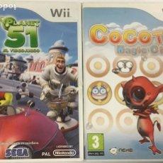 Videojuegos y Consolas: LOTE DE DOS JUEGOS PARA WII – PLANET 51 – COCOTO MAGIC CIRCUS. Lote 245904320