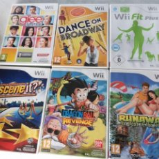 Videojuegos y Consolas: 6 JUEGOS WII, DANCE ON BROADWAY, DRAGON BALL REVENGE, SCENE IT?, GLEE, FIT PLUS, RUNAWAY - 3 DIFICIL. Lote 246077880