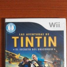 Videojuegos y Consolas: LAS AVENTURAS DE TINTÍN - EL SECRETO DEL UNICORNIO WII - NINTENDO - NUEVO CON PRECINTO ORIGINAL. Lote 246144405