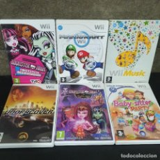 Videojuegos y Consolas: LOTE 6 DVD WII -MARIOKART, MUSIC, MONSTER HIGH, BABY SITTER, NEED FOR SPEED.... Lote 246166130