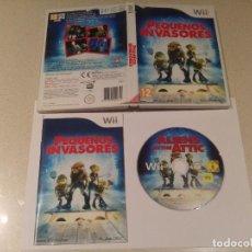Videojuegos y Consolas: PEQUEÑOS INVASORES NINTENDO WII COMPLETO PAL-ESPAÑA. Lote 246200480