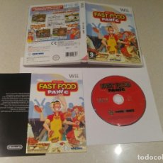 Videojuegos y Consolas: FAST FOOD PANIC NINTENDO WII COMPLETO PAL-ESPAÑA. Lote 246246135