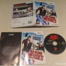 Videojuegos y Consolas: NO MORE HEROES NINTENDO WII COMPLETO PAL-ESPAÑA. Lote 246310585