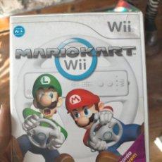 Videojuegos y Consolas: JUEGO DE LA WII - MARIO KART WII CON CAJA. Lote 246519595