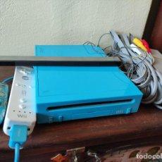 Videojuegos y Consolas: CONSOLA WII AZUL EDICION SONIC MARIO JUEGOS OLIMPICOS LONDRES 2012. NINTENDO MANDOS CABLES KINECT. Lote 247404550