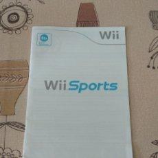 Videojuegos y Consolas: MANUAL DE INSTRUCCIONES WII SPORTS (EN INGLÉS). Lote 255571330