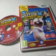 Videojuegos y Consolas: RAYMAN RAVING RABBIDS TV PARTY ( NINTENDO WII - WII U - PAL - ESP). Lote 256066260