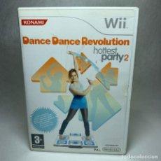 Videojuegos y Consolas: VIDEOJUEGO NINTENDO WII - DANCE DANCE REVOLUTION HOTTEST PARTY 2 + INSTRUCCIONES + CAJA. Lote 257298050