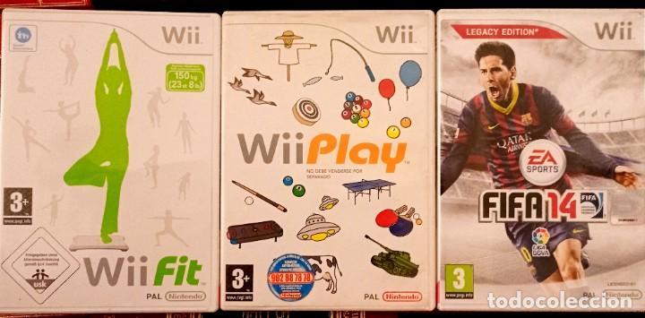 LOTE DE 4 VIDEOJUEGOS PARA WII - FIT PLAY FIFA 14 RED STEEL NINTENDO PAL JUEGOS (Juguetes - Videojuegos y Consolas - Nintendo - Wii)
