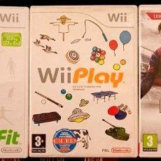 Videojuegos y Consolas: LOTE DE 4 VIDEOJUEGOS PARA WII - FIT PLAY FIFA 14 RED STEEL NINTENDO PAL JUEGOS. Lote 260558720