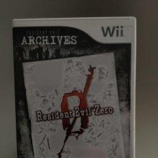 Videojuegos y Consolas: RESIDENT EVIL ZERO , JUEGO NINTENDO WII, PAL ESPAÑOL, COMPLETO. Lote 265844709