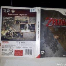 Jeux Vidéo et Consoles: JUEGO PARA WII THE LEGEND OF ZELDA TWILIGHT PRINCESS CARATULA Y DISCO USADOS. Lote 266575038