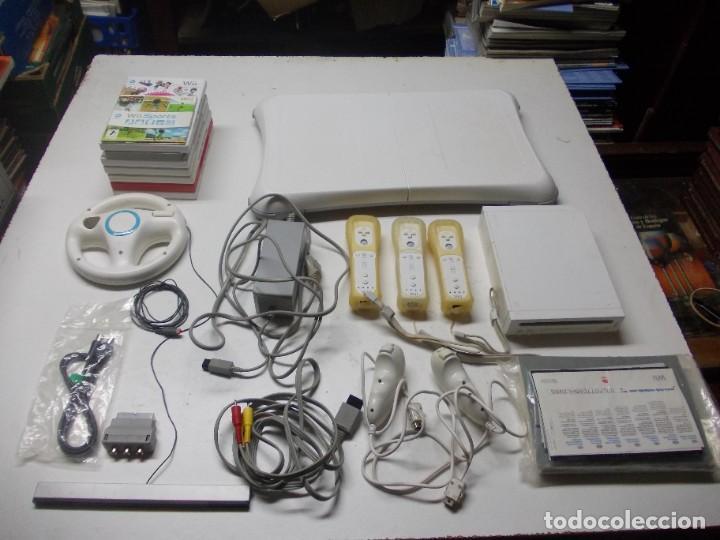 LOTE WII, TAL CUAL FOTOS, SIN PROBAR, LA CONSOLA ENCIENDE, LEER DESCRIPCIÓN (Juguetes - Videojuegos y Consolas - Nintendo - Wii)