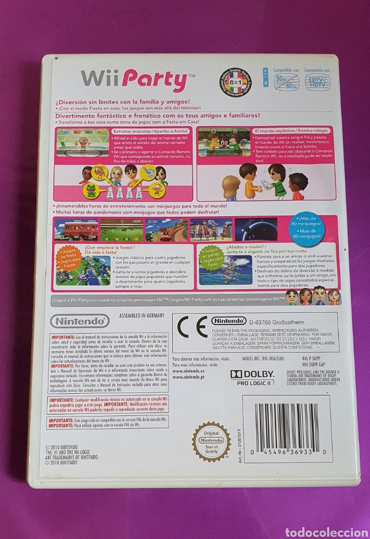 Videojuegos y Consolas: CAJA Y MANUAL NINTENDO WII PARTY - NO INCLUYE CD!!! - Foto 2 - 268786289