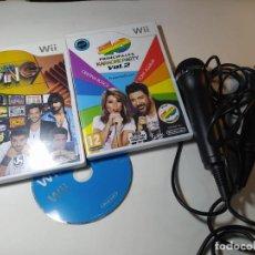 Videojuegos y Consolas: LET SING 7 ( ESPAÑOL) + 40 PRINCIPALES 2 + 2 MICROS + SPORTS ( NINTENDO WII - WII U - PAL - ESP). Lote 268918894