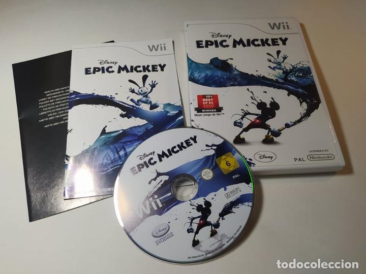 EPIC MICKEY ( DISNEY ) ( NINTENDO WII - WII U - PAL - ESP) (Juguetes - Videojuegos y Consolas - Nintendo - Wii)