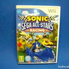 Videojuegos y Consolas: SONIC SEGA ALL STARS RACING JUEGO PARA NINTENDO WII. Lote 269726338