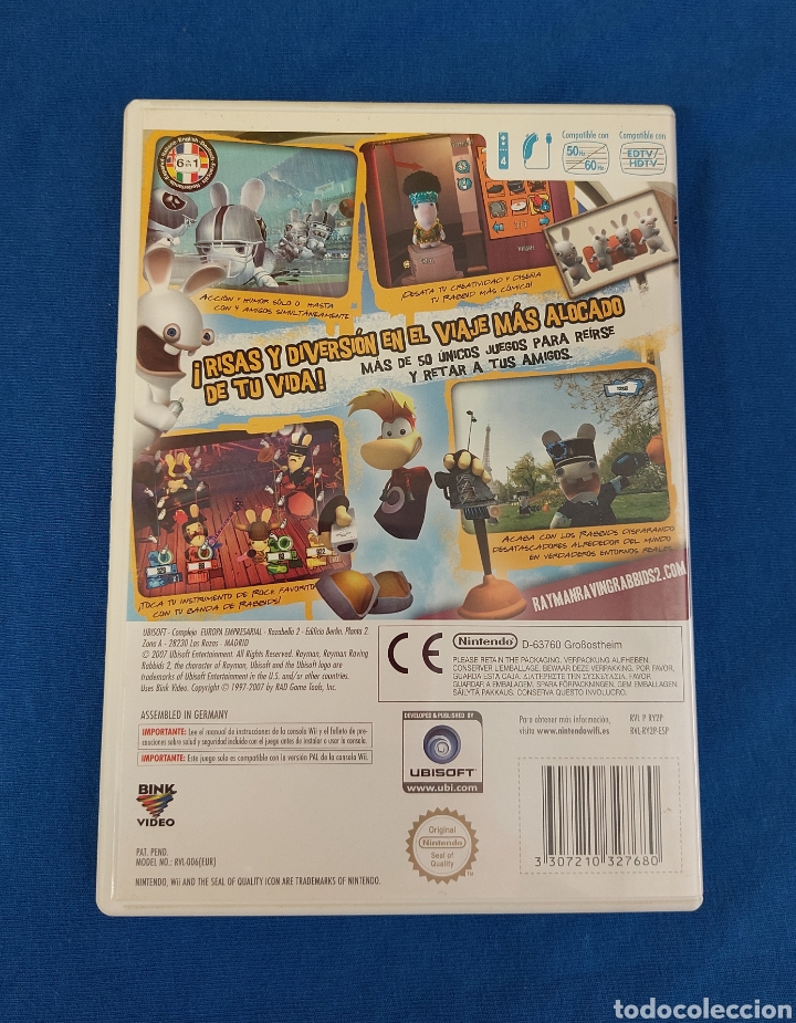 Videojuegos y Consolas: JUEGO RAYMAN RAVING RABBIDS 2 WII - Foto 2 - 269841058