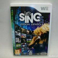 Videojuegos y Consolas: LET'S SING 5 VERSION ESPAÑOL JUEGO DE WII. Lote 269975393