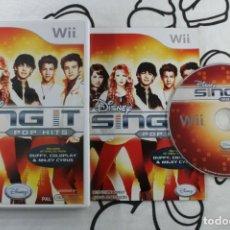 Videojuegos y Consolas: NINTENDO WII DISNEY SING IT POP HITS MUY BUEN ESTADO PAL UK. Lote 271571138