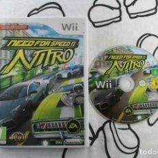 Videojuegos y Consolas: NINTENDO WII NEED FOR SPEED NITRO SIN MANUAL PAL UK. Lote 271572513